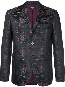 DSQUARED2 brocade fitted blazer