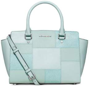Michael Kors MICHAEL Selma Medium Colorblock Satchel - GREEN - STYLE