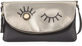 Neiman Marcus Winky Two-Tone Shoulder Clutch Bag