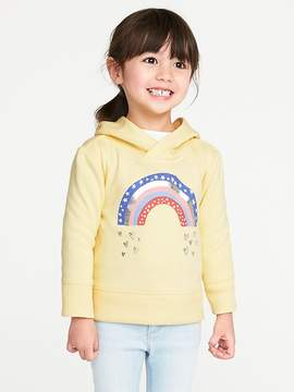 Old Navy Graphic Fleece Pullover Hoodie for Toddler Girls