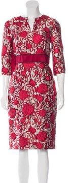 Carolina Herrera 2016 Brocade Sheath Dress w/ Tags