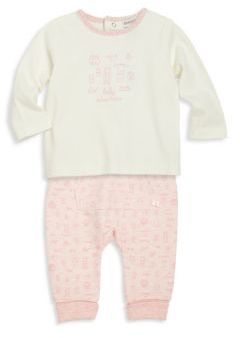 Absorba Baby's Two-Piece Graphic Tee & Printed Jogger Pants Set
