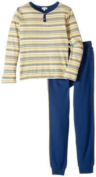 Splendid Littles Striped Henley Shirt and Pants Set (Little Kids/Big Kids)