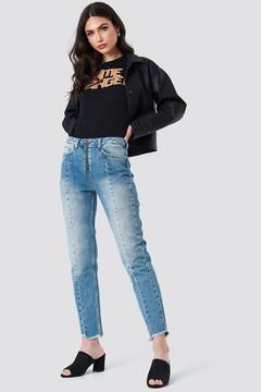 NA-KD Na Kd Front Zipper Panel Jeans