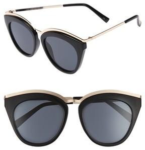 Le Specs Women's Eye Slay 52Mm Cat Eye Sunglasses - Black