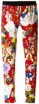 Roberto Cavalli Floral Print Leggings Girl's Casual Pants