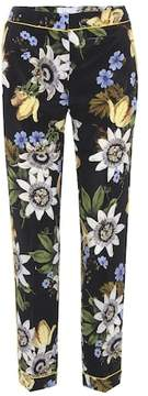 Erdem Ginnie floral-printed silk trousers