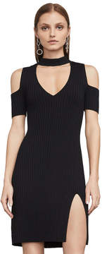 BCBGMAXAZRIA Zoelle Cold-Shoulder Sweater Dress