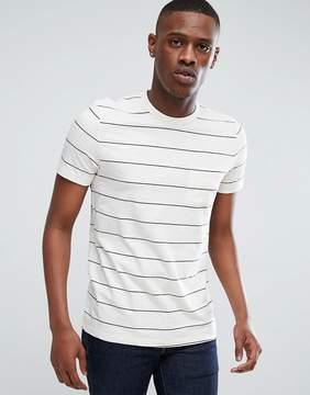 Esprit T-Shirt In Slub With Stripe
