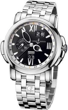Ulysse Nardin GMT Perpetual Black Dial 18kt White Gold Men's Watch 320-60-8-32