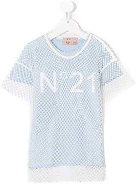 No.21 Kids logo print T-shirt