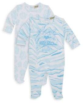 Kenzo Baby's Tiger Printed Cotton Footies