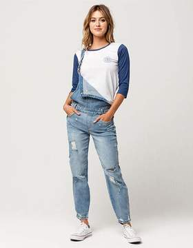 Almost Famous Premium Destructed Womens Overalls