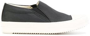 Rick Owens contrast slip-on sneakers