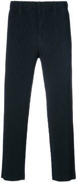 Issey Miyake ribbed cropped trousers