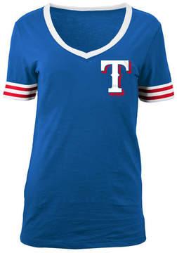 5th & Ocean Women's Texas Rangers Retro V-Neck T-Shirt