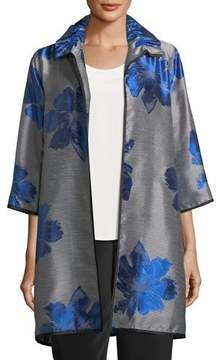 Caroline Rose Floral Pop Topper Jacket, Plus Size