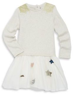Catimini Toddler's, Little Girl's & Girl's Glittered Long-Sleeve Cotton Dress