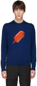 Paul Smith Navy Merino Popsicle Sweater