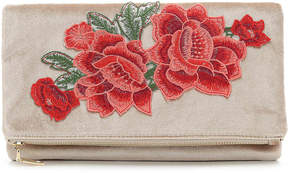 Urban Expressions Women's Embroidered Velvet Clutch