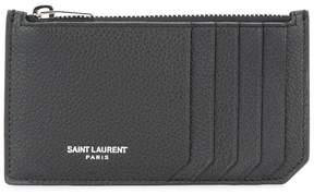 Saint Laurent 'Paris 5 Fragments' zip pouch - BLACK - STYLE