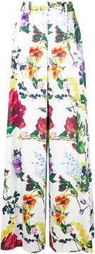 Alice + Olivia Alice+Olivia floral-print pleated palazzo pants