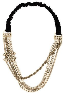 Chanel Pearl-Embellished CC Headband