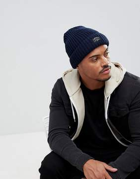 New Look Chunky Knit Beanie In Navy