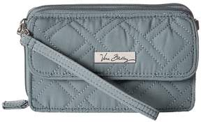 Vera Bradley All in One Crossbody for iPhone 6+ Clutch Handbags - CHARCOAL - STYLE
