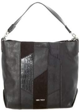 Nine West Womens Medley Up Faux Leather Convertible Hobo Handbag
