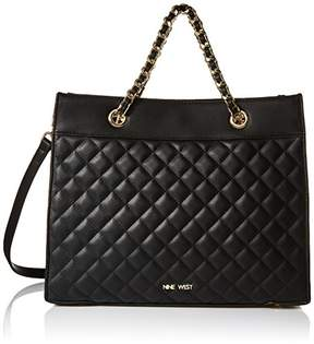 Nine West Dayne Quilted Tote Satchel Bag