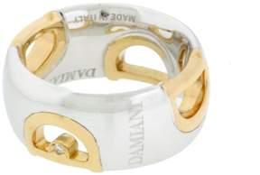 Damiani 18K Rose & White gold D Icon Ring