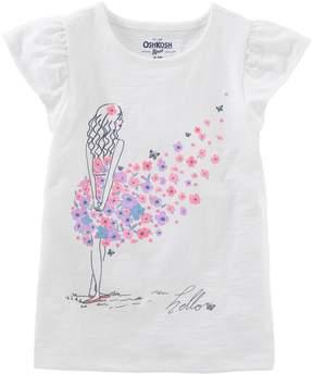 Osh Kosh Oshkosh Bgosh Girls 4-12 Hello Floral Dress Graphic Tee