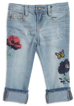Vigoss Little Girl's Embroidered Capri Jeans