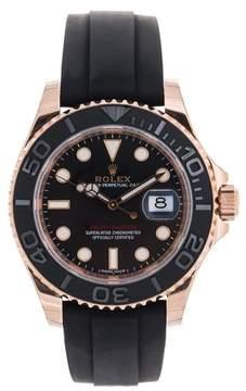 Rolex 116655 Rl155 Yacht-Master Black 18k Everose Gold Rubber Mens Watch