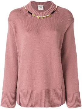 Forte Forte oversized necklace detail sweater