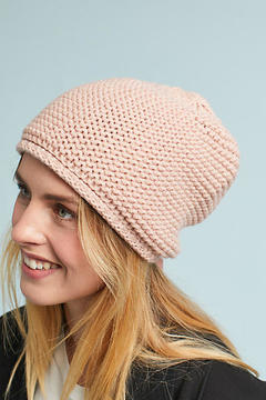 Anthropologie Ribbon-Laced Beanie