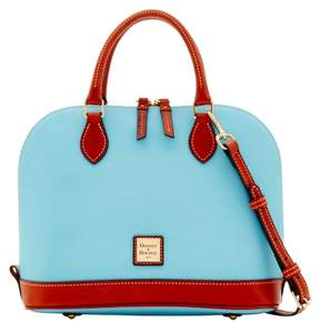 Dooney & Bourke Pebble Grain Zip Zip Satchel - CARIBBEAN BLUE - STYLE