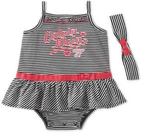 Calvin Klein Girls 2-Piece Set Romper Jumpsuit blkpnk 18 mos