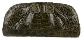 Nancy Gonzalez Crocodile Flip-Lock Clutch