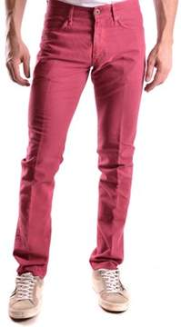 Incotex Men's Red Cotton Pants.