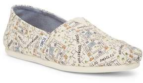 Toms Classic LA Printed Natural Canvas Slip-On Shoe