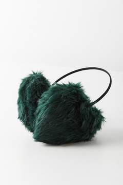 Urban Outfitters Faux Fur Heart Ear Muff