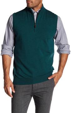 Peter Millar Wool Quarter Zip Vest