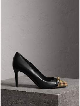 Burberry Horseferry Check Leather Pumps