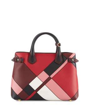 Burberry Banner Medium Patchwork House Check Tote Bag, Pink - PINK - STYLE