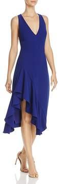 Betsey Johnson Ruffled Stretch Crepe Dress