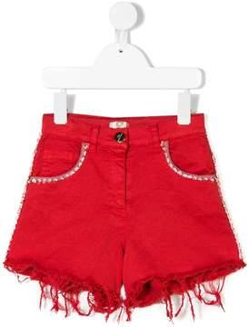 Elisabetta Franchi La Mia Bambina distressed hem shorts