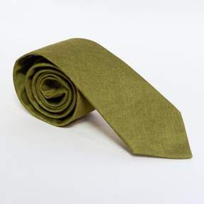 Blade + Blue Solid Olive Green Cotton Tie