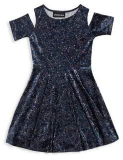 Un Deux Trois Girl's Ditsy Fit-&-Flare Dress